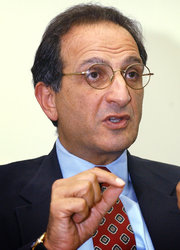 James Zogby, president of the Arab American Institute, said the Democratic platform has lagged on Israeli positions. Credit Stephen J. Boitano/Associated Press