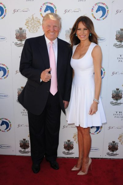 PALM BEACH, FL - JANUARY 06: Donald Trump and Melania Trump attend Trump Invitational Grand Prix  at Mar-a-Lago on January 6, 2013 in Palm Beach, Florida. (Photo by Larry Marano/Getty Images)